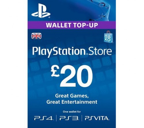 PlayStation Network GBP20 انگلستان