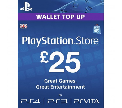 PlayStation Network GBP25 انگلستان