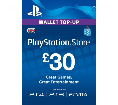 PlayStation Network GBP30 انگلستان