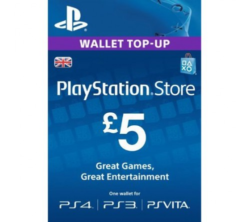 PlayStation Network GBP5 انگلستان
