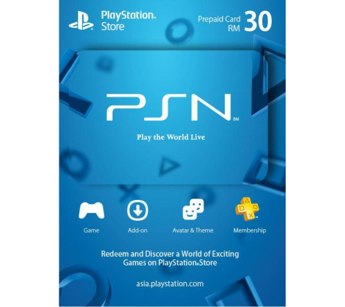 PlayStation Network RM30 مالزی