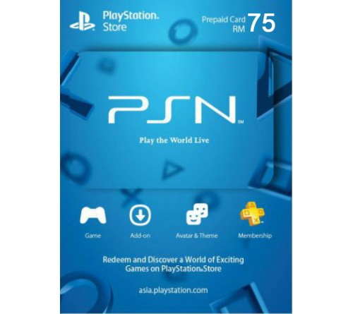 PlayStation Network RM75 مالزی