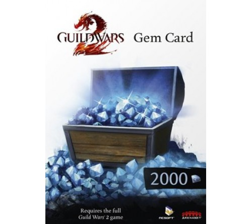 Guild Wars 2: 2000 Gems - NCSoft تحویل آنی