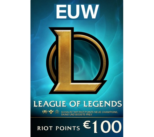 Riot Point 100EUR 15000RP EUW