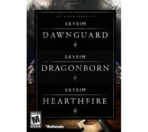 Skyrim 3 Addon Pack: Dawnguard + Dragonborn + Hearthfire - Steam