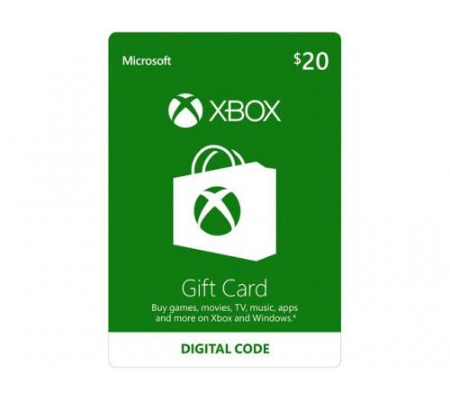 XBOX Gift Card 20$