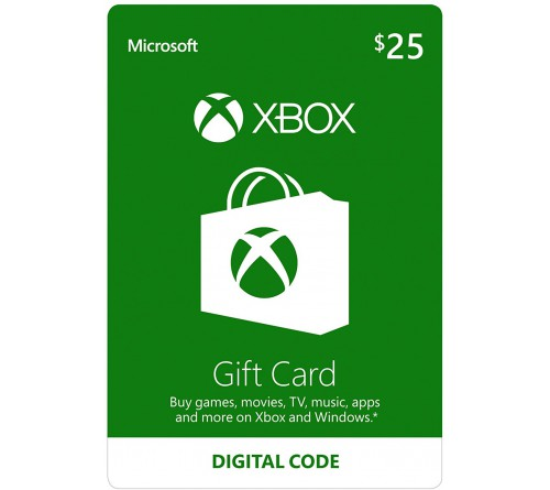 XBOX Gift Card 25$